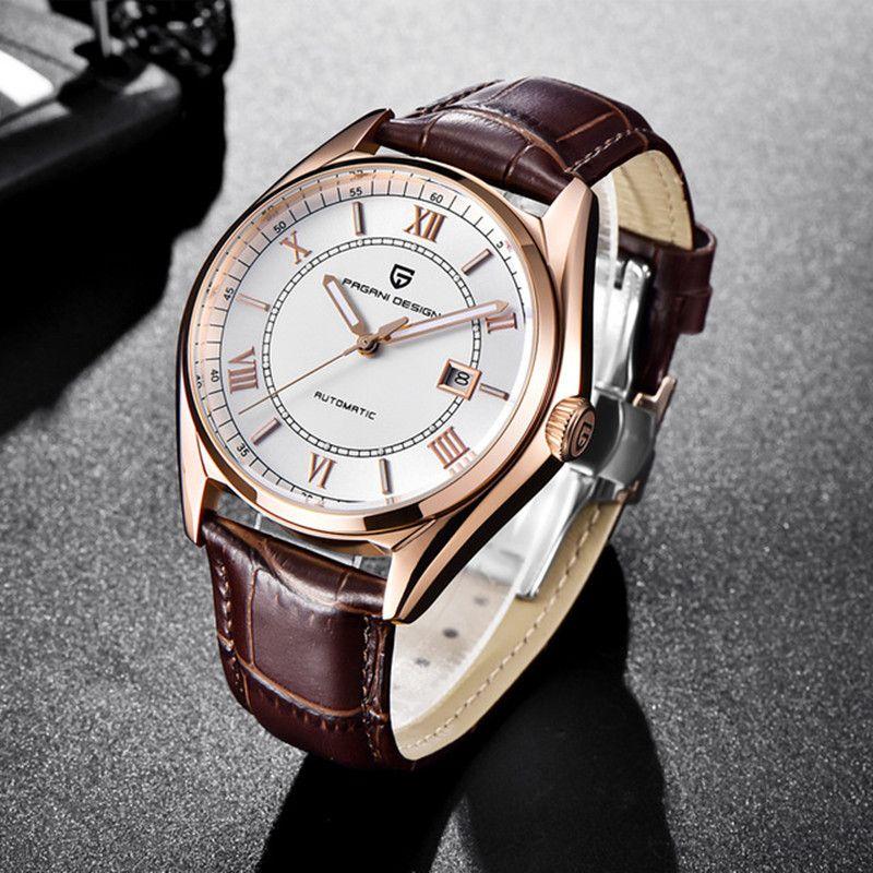 Automatische Mechanische herren Uhr 2018 Top Marke PAGANI DESIGN Luxus Uhr Mode Wasserdichte Männliche Armbanduhr Relogio Masculino
