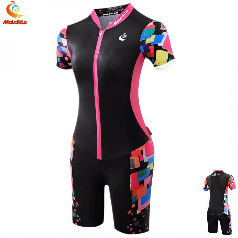 Women Black Sport Jumpsuit 2018 High Quality Ropa Ciclismo Maillot Cycling Jersey Skinsuit Bike Girls Clothing Triathlon Suit