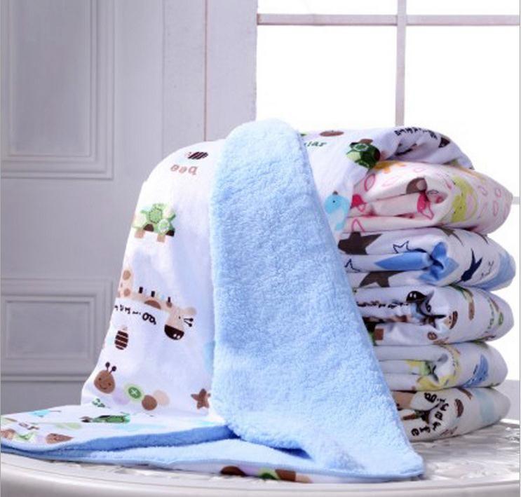 Recién nacido manta de viaje manta de bebé niños otoño invierno gruesa cashmere algodón recibir mantas para el sofá cama infantil cobertor