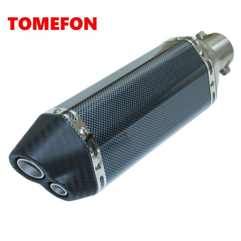 TOMEFON Motorcycle escape silencer akrapovic exhuast yoshimura exhaust muffler double hole for Z750 ninja250 Z800 crf230 ktm