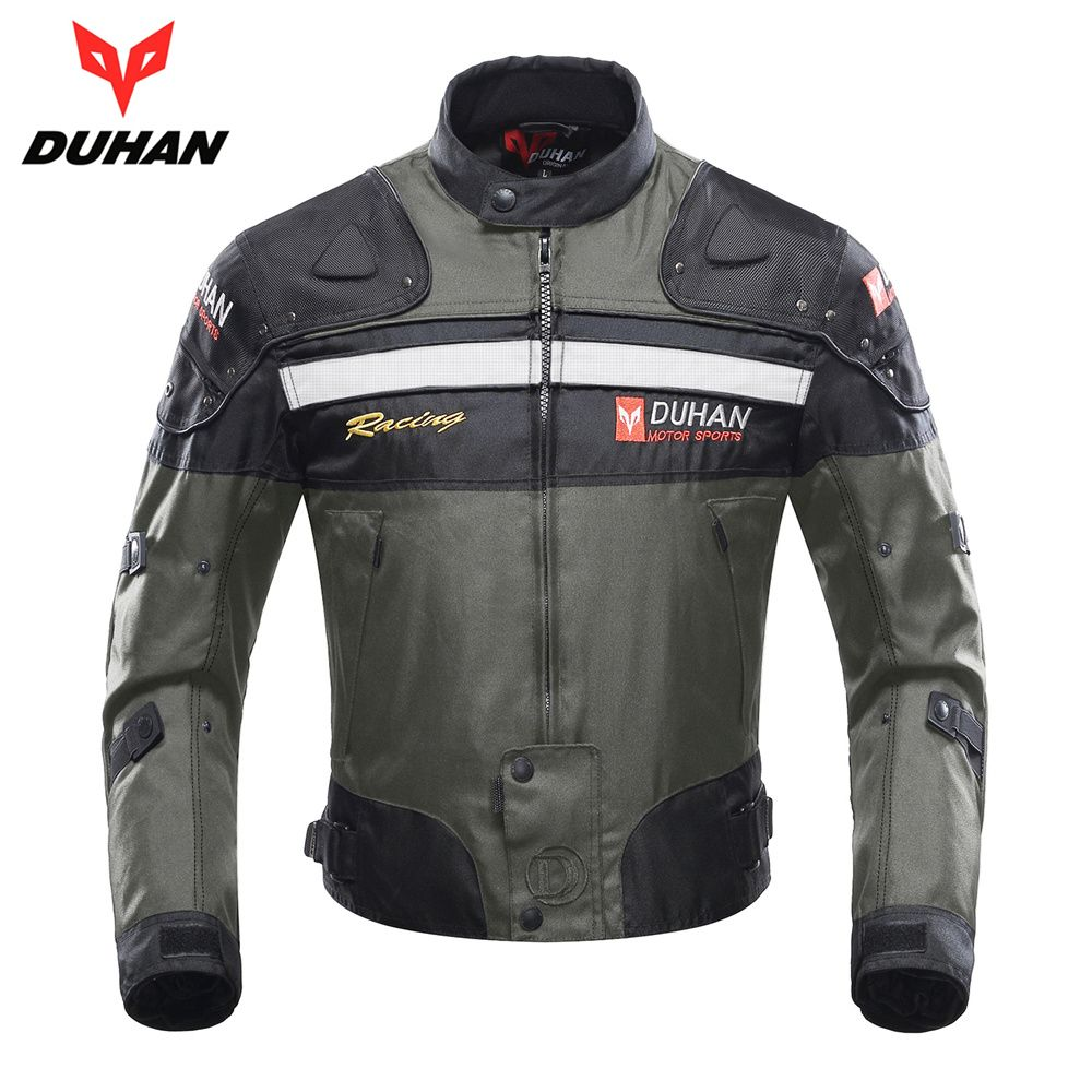 DUHAN Motorcycle Jacket Motocross Jacket Moto Men Windproof Cold-proof Clothing Motorbike Protective Gear for Winter Autumn