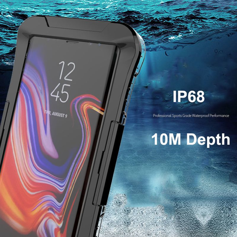 IP68 étui pour samsung Galaxy S10 Plus S10e S8 Note 10 9 S7 bord sous couverture de plongée étanche à l'eau 360 clair antichoc