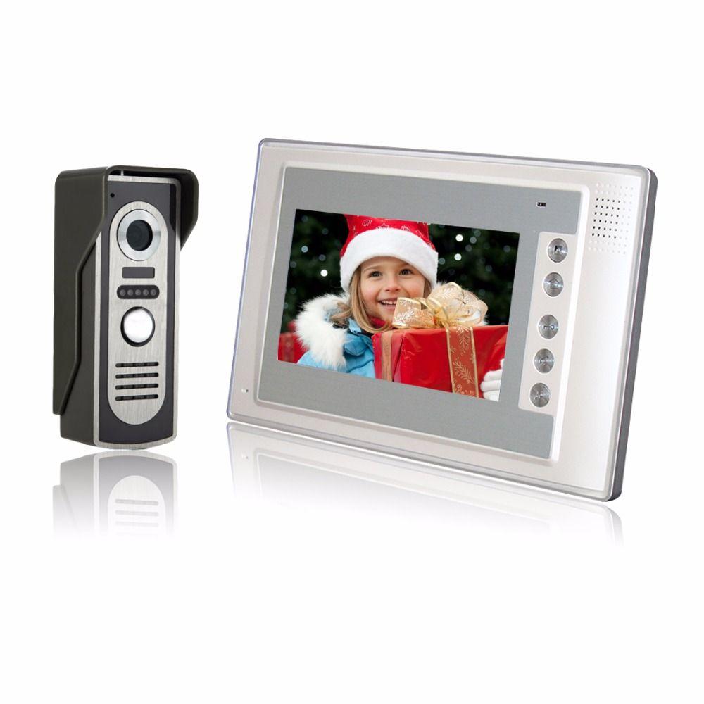Главная Безопасность 7 дюймов tft ЖК-дисплей Мониторы Цвет телефон видео домофон Системы ИК Открытый Камера домофона