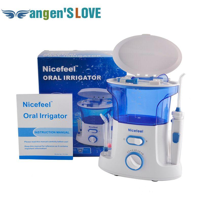 FC168 New Dental Floss Water Oral Flosser Home Pack Dental Irrigator Oral Teeth Cleaning Water 7 Pcs Tips 600ml Water Tank