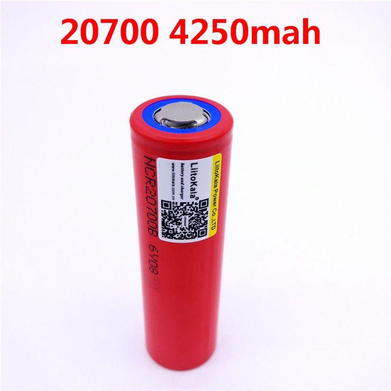 1 teile/los Liitokala 20700B 20700 4250 mah batterie NCR20700B hohe rate batterie zelle 20A 20700