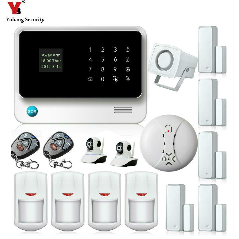 Yobang Security WIFI APP Control Alarmas De Seguridad Para Casa Surveillance Camera Wireless Home House Security Intruder Alarm