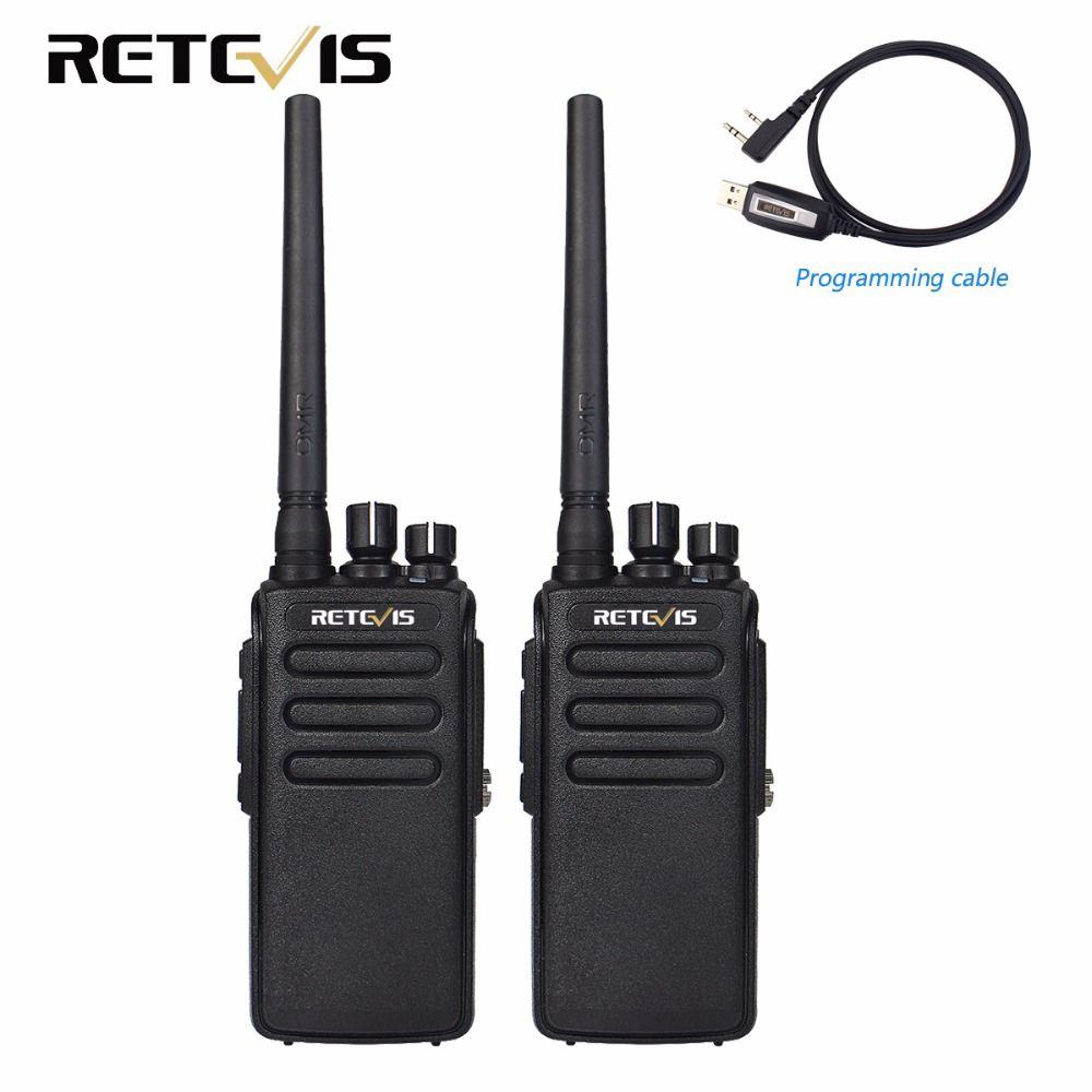 2 pcs 10 W DMR Numérique Radio IP67 Étanche Talkie Walkie 10Km Retevis RT81 UHF 400-470 MHz VOX Crypté Radio Bidirectionnelle Longue gamme
