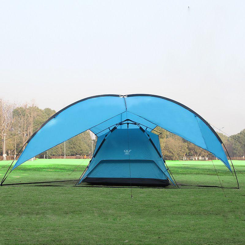 480*480*480*200cm waterproof canopy huge sun shelter bivvy awning beach pergola fishing outdoor camping tent
