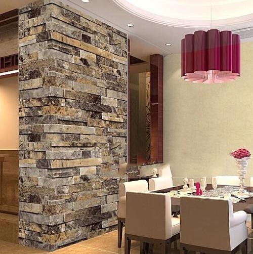 Pierre Brique 3D Papier Peint Chambre Salon Fond Mur Vinyle Rétro Mur Rouleau de Papier Rustique Faux Pierre Fonds D'écran