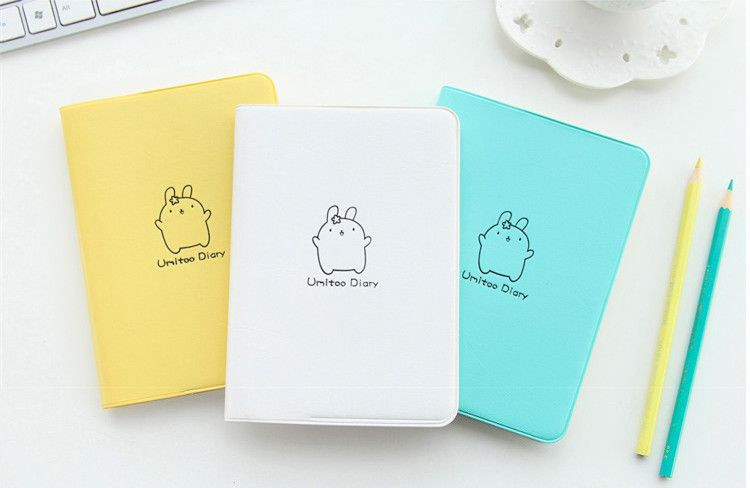 2018 Cute Rabbit Diary Kawaii Calendar Planner 2018 2019 Program Notebook Notepad Pocket Journal For Gift School Supplies