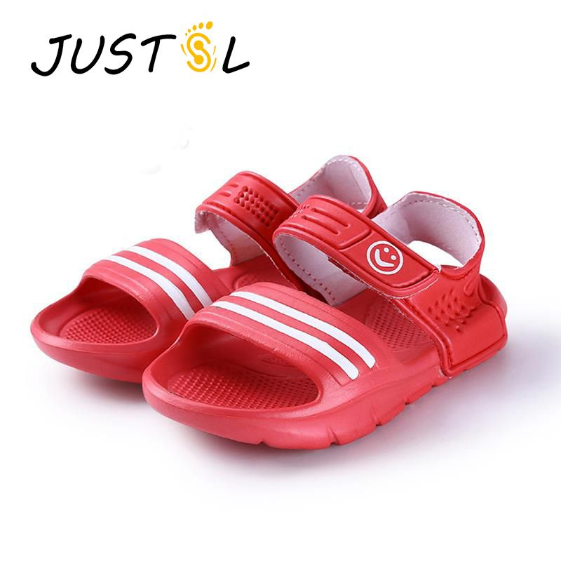 JUSTSL 2016 summer fashion casual non-slip resistant convenient shoes for kids 9 colors boys girls beach sandals size 24-29