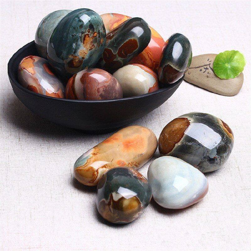 Natural Stones Ball Ocean Jasper Round Mineral Ore Specimen Agate Crystal Quartz Home Desk Decorations Reiki Fengshui Collection