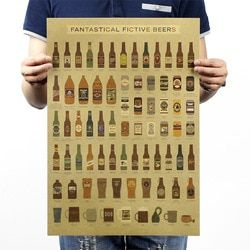 Beer Encyclopedia History Vintage Kraft Paper Poster Home School Office Decoration  Art Magazines Classic Retro Posters