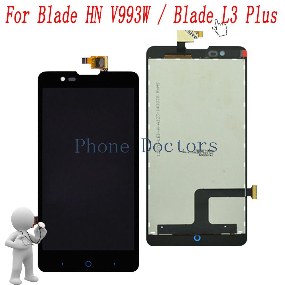 5.0 ''LCD Full DIsplay + Écran Tactile Digitizer Assemblée Pour ZTE Lame HN V993w/Lame L3 plus/ v5 V9180 N9180 U9180 V5S N918ST