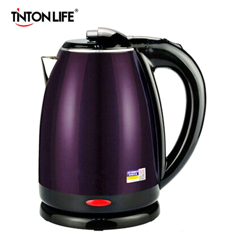 TINTON LIFE 220V Electric Kettle Heating Hot Water Split Style Stainless Steel Liner Quick Heating Auto 1500W 2.0L