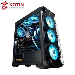 Kotin S12 Flowing Light RGB Desktop High End Gaming Computer I7 8700K ASUS STRIX 1060 6G Corsair 650W 16G 3200 RAM OPTANE