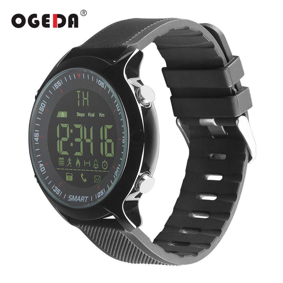 OGEDA Smart Watch Men EX18 Diving 50M Waterproof Pedometer Clock Fitness Bluetooth Phone Message Push Sports Healthy Smart Watch