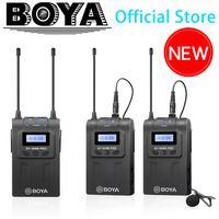 BOYA BY-WM8 Pro UHF Wireless Lavalier sistema de micrófono para iPhone 8 Video entrevista transmisión Canon Nikon DSLR Cámara videocámara