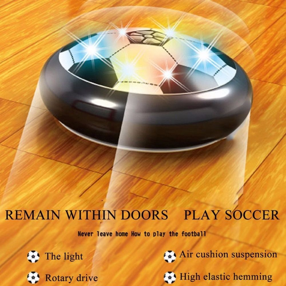 Colorful LED Light Electric Suspended Game Lighting Air Cushion Football Foot Ball Indoor Sports Toys Gift Children Kids Student
