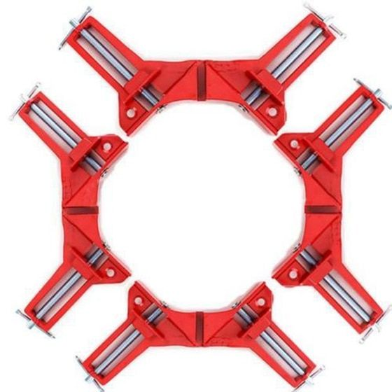 4pcs 75mm Mitre Corner Clamp Picture Frame Holder Woodwork Right Angle Red