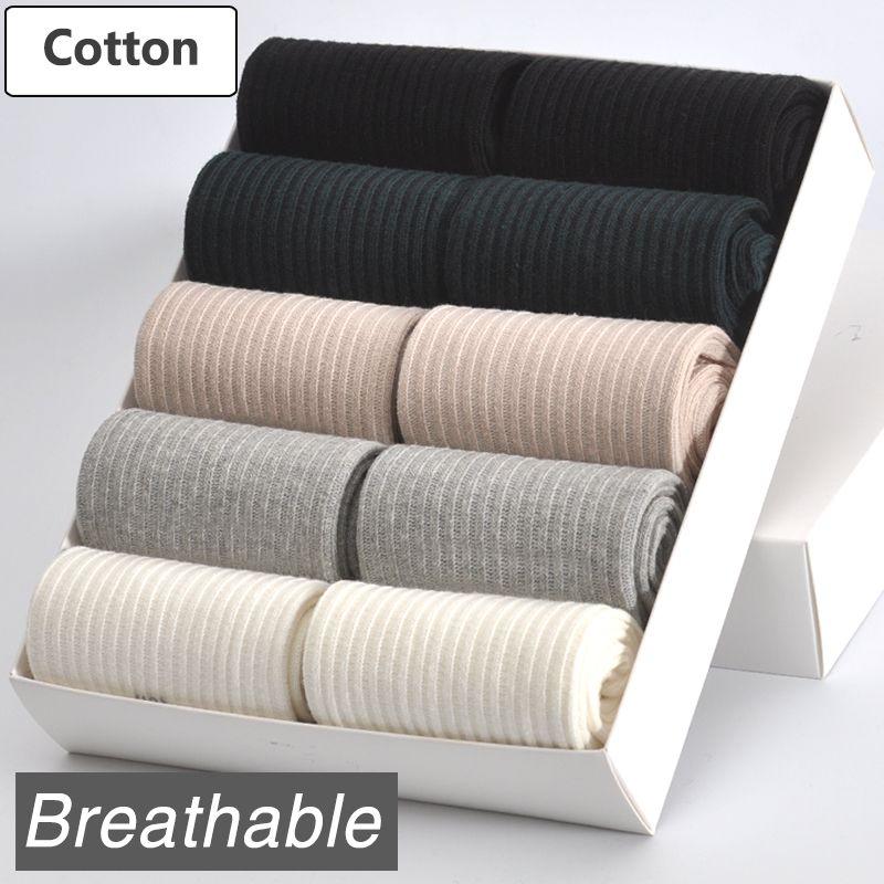 10 пар/лот Для женщин хлопковые носки Фирменная Новинка 5 цветов удобные дышащие прочный высокое качество модные Стиль женские носки