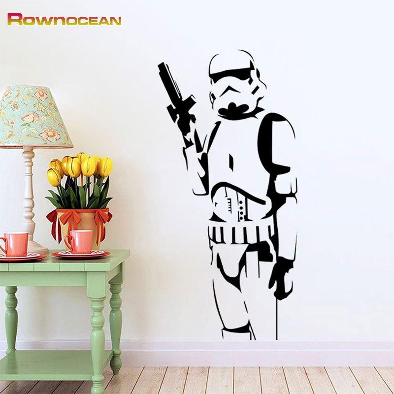 Star Wars Design Stormtrooper Stickers muraux pour enfants Vinilos adhéivos Decorativos amovible décorations pour la maison Mural S-03