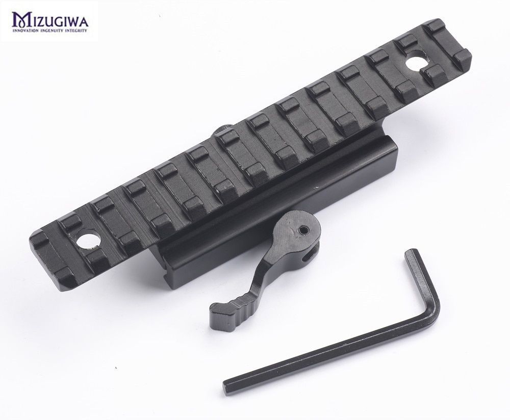 1PC 20MM Picatinny Rail Mount Adapter Converter Quick Release scope rail Base mount Riser Mount extend rise 20mm Dovetail