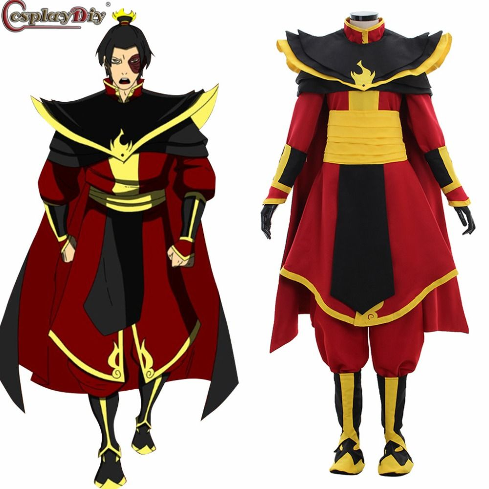 Anime Avatar The Last Airbender Prince Zuko Azula Cosplay Costume Adult Halloween Party Xmas Custom Made Uniform Clothes