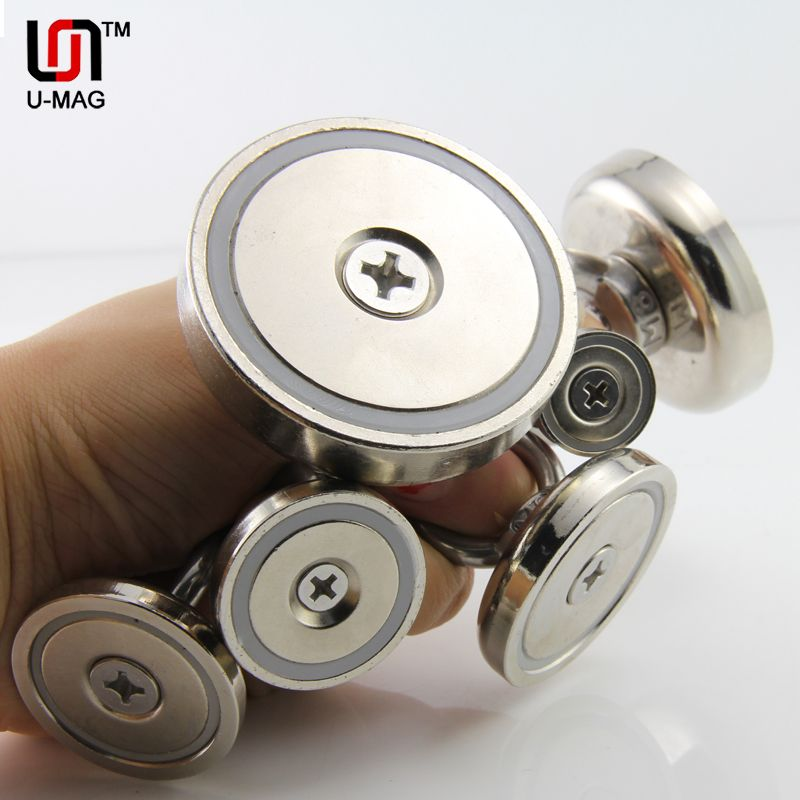 super powerful  hole salvage magnets rare earth permanent Neodymium hook magnet all size on sale