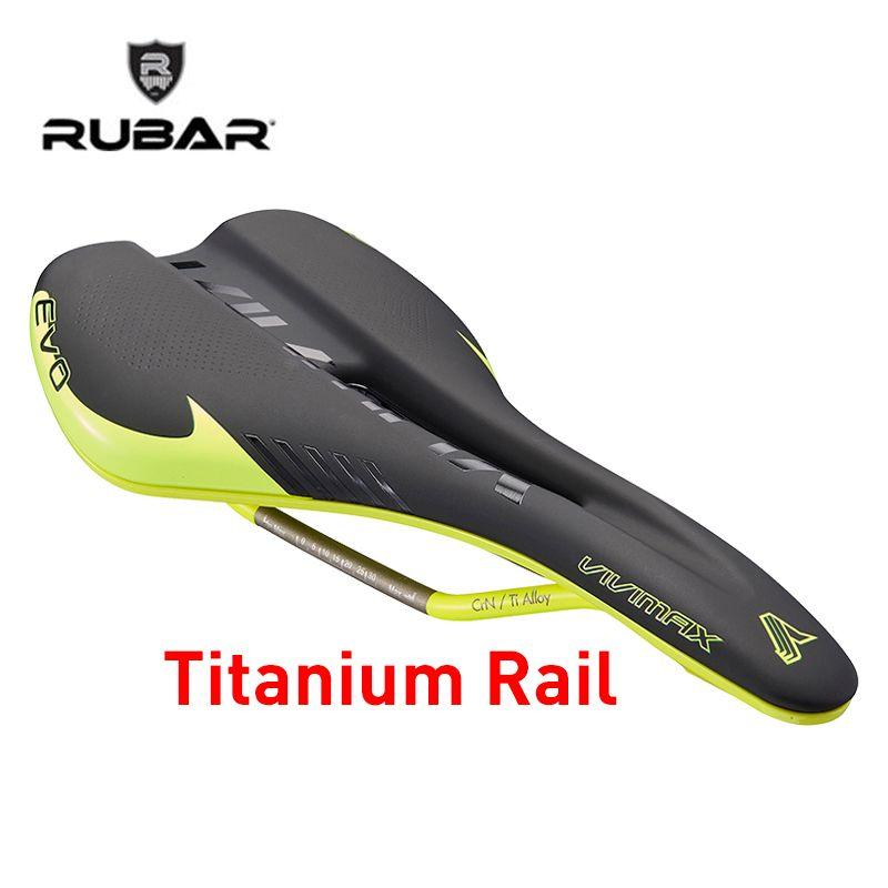 RUBAR EMIRATES PLUS 3255N Bicycle Saddle MTB Mountain Road Bike Hollow Design Titanium Saddle CR-Mo Rail Triathlon Bike Saddle
