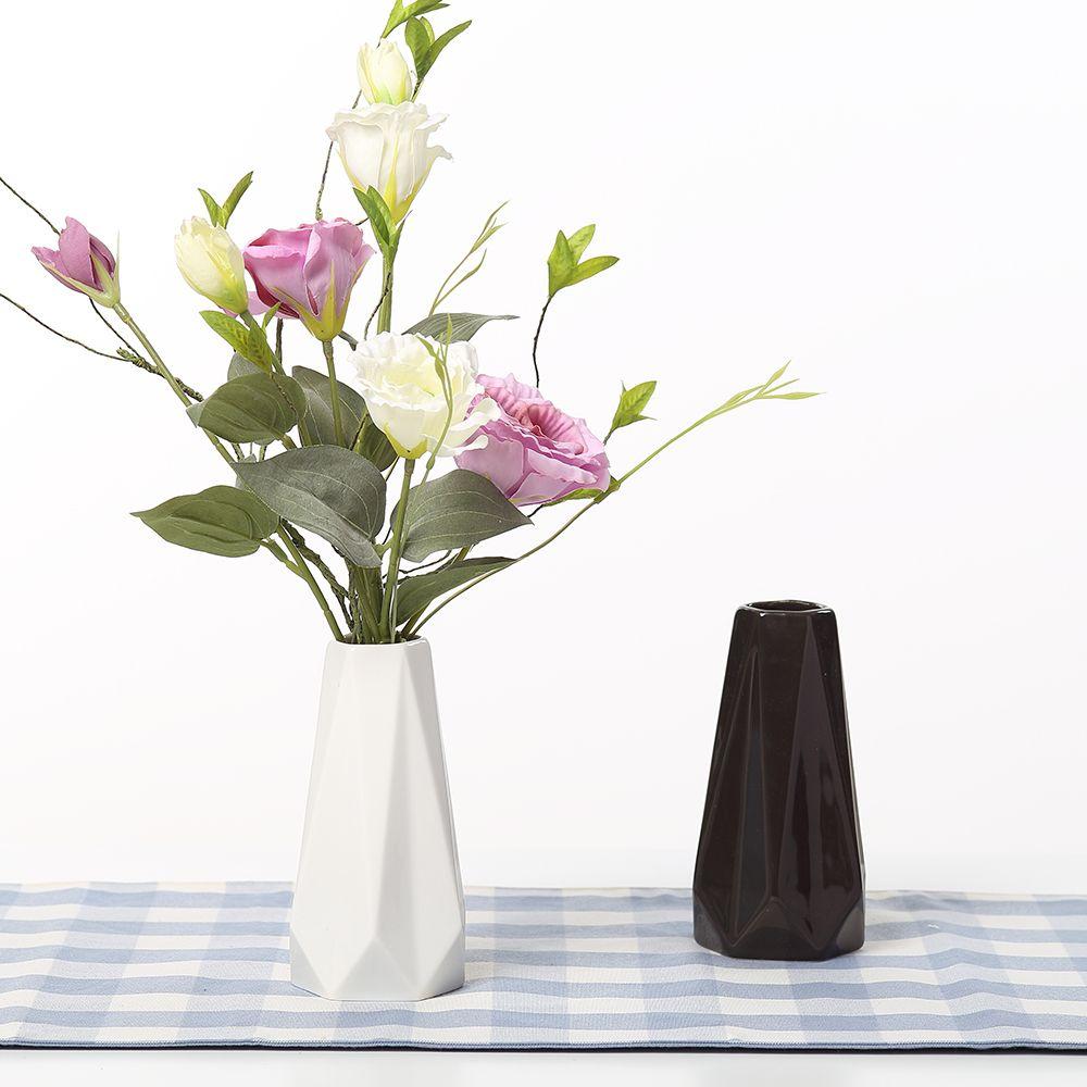 Les Bords et Les Coins Vases En Céramique Blanc Noir Table Vase Décoration de La Maison vase Mode Moderne vases