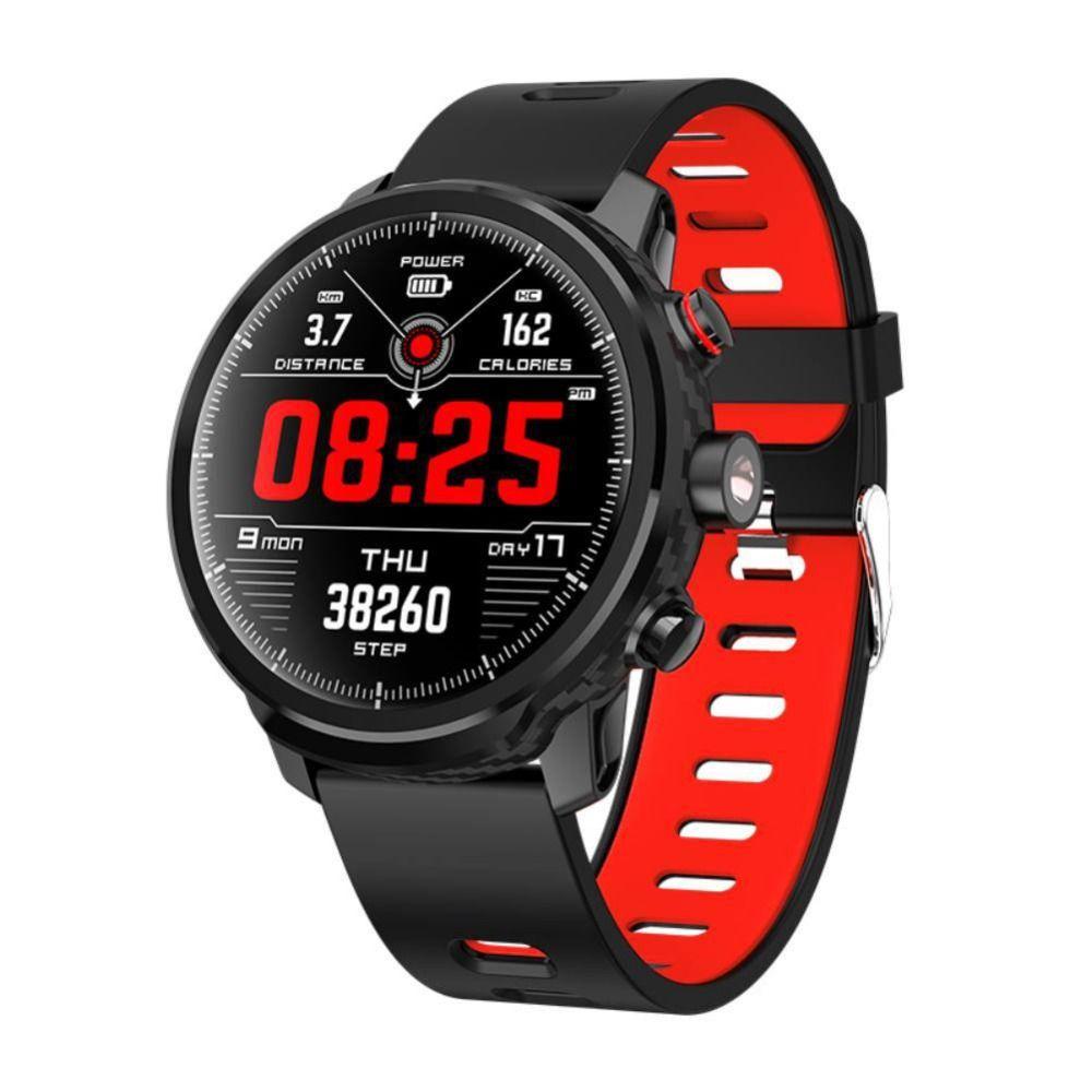 Mode L5 Smart Uhr IP68 Wasserdichte Standby 100 Tage Mehrere Sport Modus Herz Rate Überwachung Wetter Prognose Smartwatch