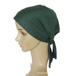 45 COLORS Full Cover Inner Muslim Cotton Hijab Cap Islamic Head Wear Hat Underscarf Bone Bonnet Turkish Scarves muslim headcover