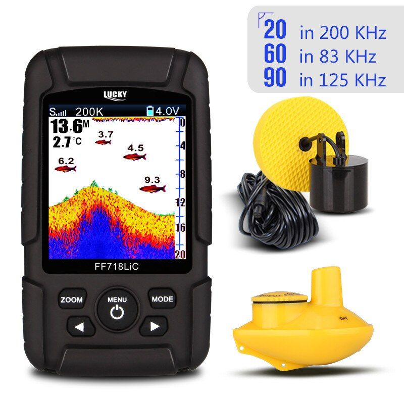 LUCKY Portable Wireless Fish Finder Echo Sounder 2.8