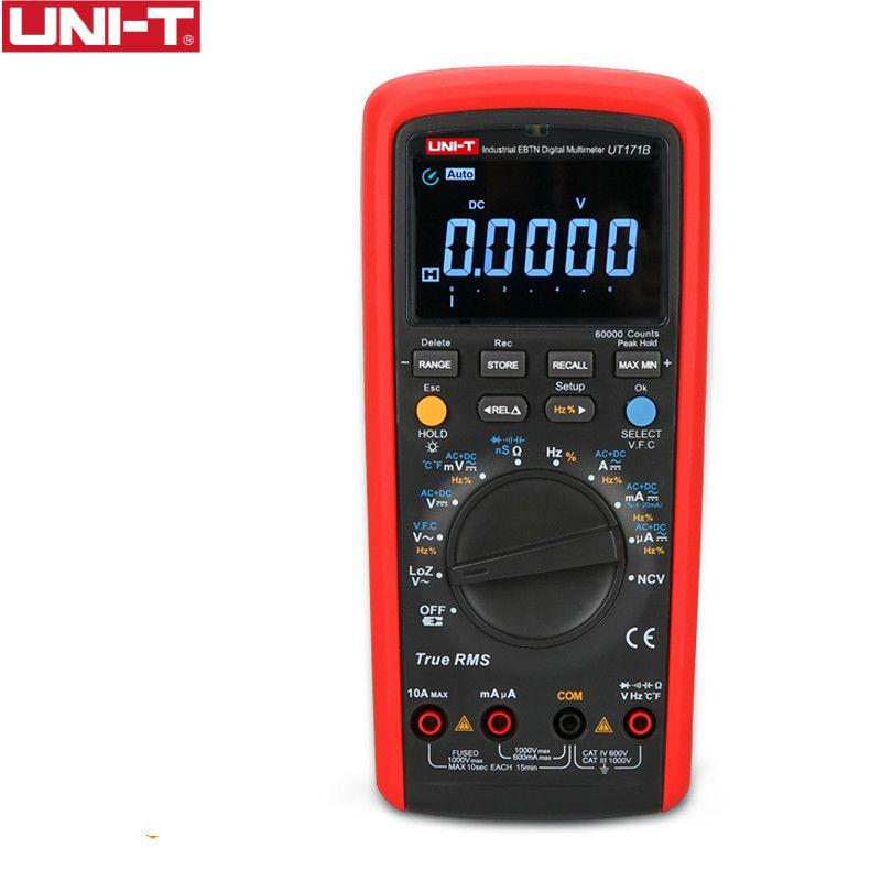 UNI-T UT171B Industrie True RMS Digitalmultimeter Eintritt 60 Karat Zählt Widerstand Tester Original Messen EBTN LCD USbbB