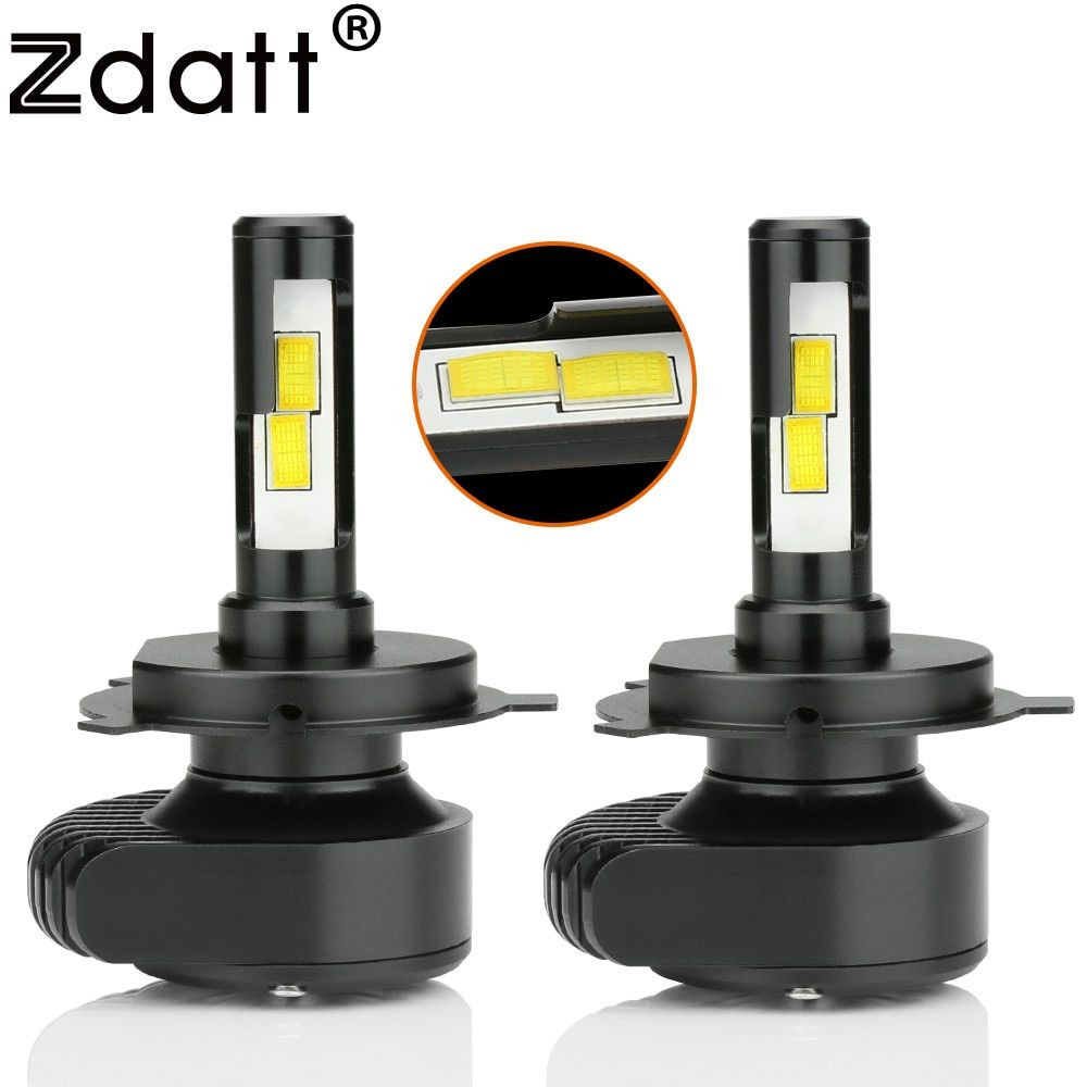 Zdatt Upgrade Mini Led H4 H7 Canbus Headlight Bulb H8 H9 H11 H1 9005 HB3 9006 CSP 80W 8000Lm Car Light 12V Fog Lamp Auto 6000K