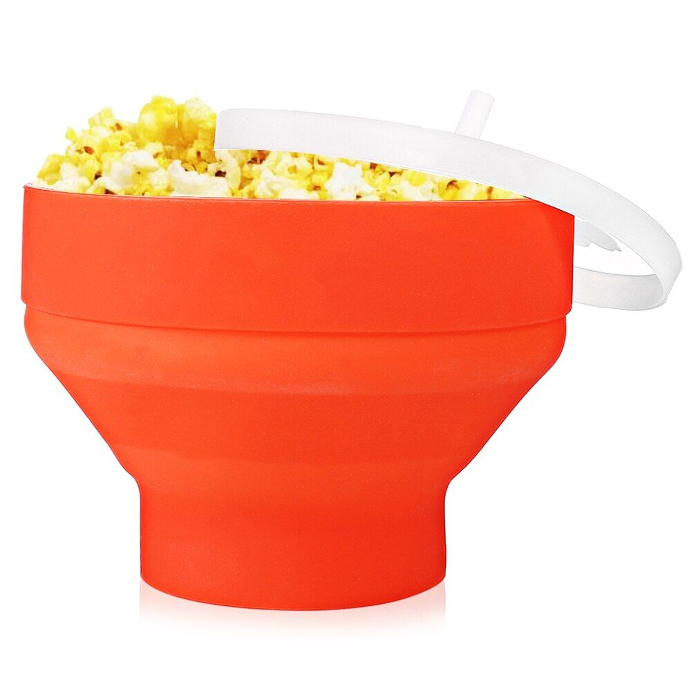 Kitchen Tableware Silicone Collapsible Microwave Popcorn Maker Popper Bowl For Home