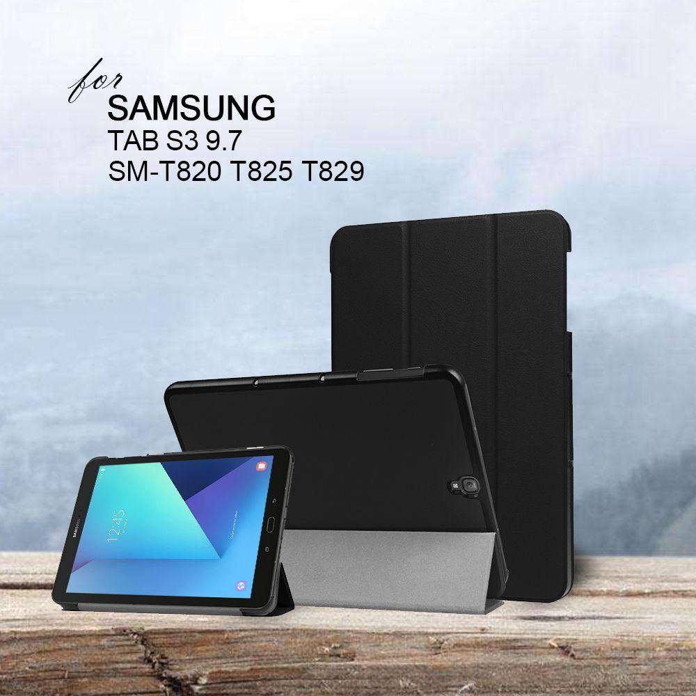 Étui pour samsung Galaxy Tab S3 S 3 TM-T820 T825 T829 9.7 pouces tablette + cadeau gratuit