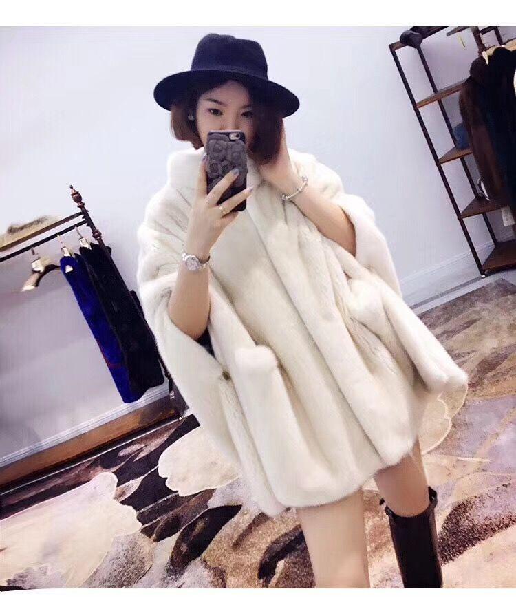 2018 winter neue frauen natural real nerz mantel jacke nerz outwear
