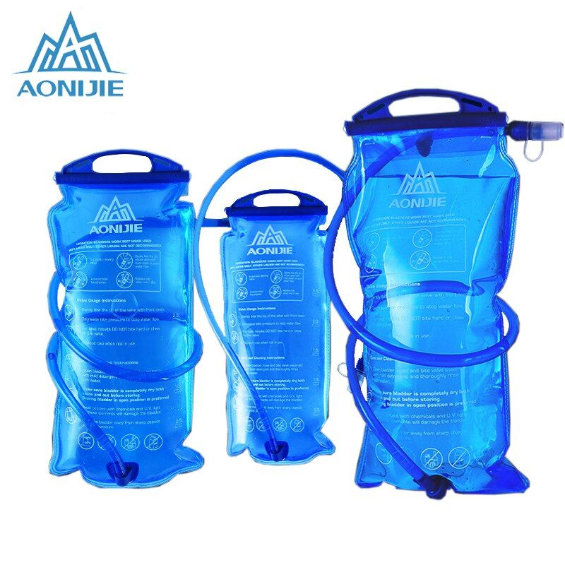 AONIJIE 1L Water Bag Hydration Bladder Water Bag 2L 3L For Running Bicycle Camping Mouth Hydration Bladder Bags Running Cycling