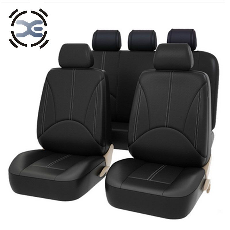5 Seats Artificial Leather Seat Cover Universal Fit Most Car Protects Seats From Wear Automobiles Interior Accessories A126