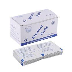 60 Pcs/Lot Tampon Imbibé D'alcool Pad Médical-Tige Sachet Antibactérien Outil Nettoyant Humide Lingettes