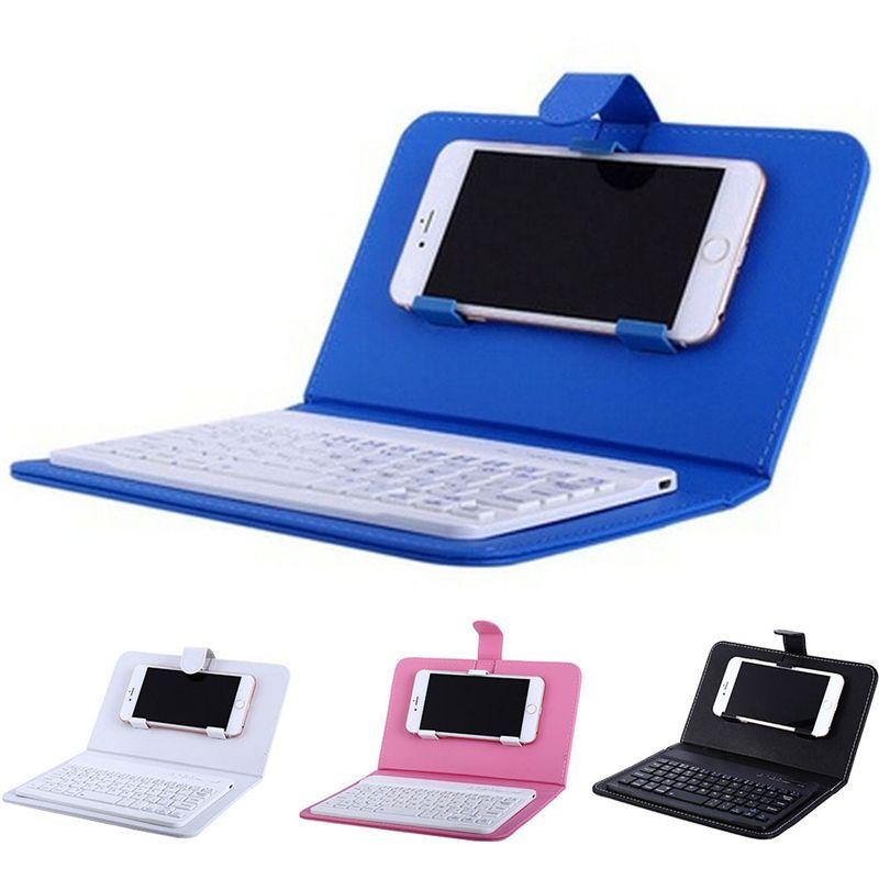 Portable En Cuir PU Sans Fil Clavier étui pour IPhone étui De Protection pour Téléphone Portable avec Clavier Bluetooth Pour IPhone 6 7 Smartphone