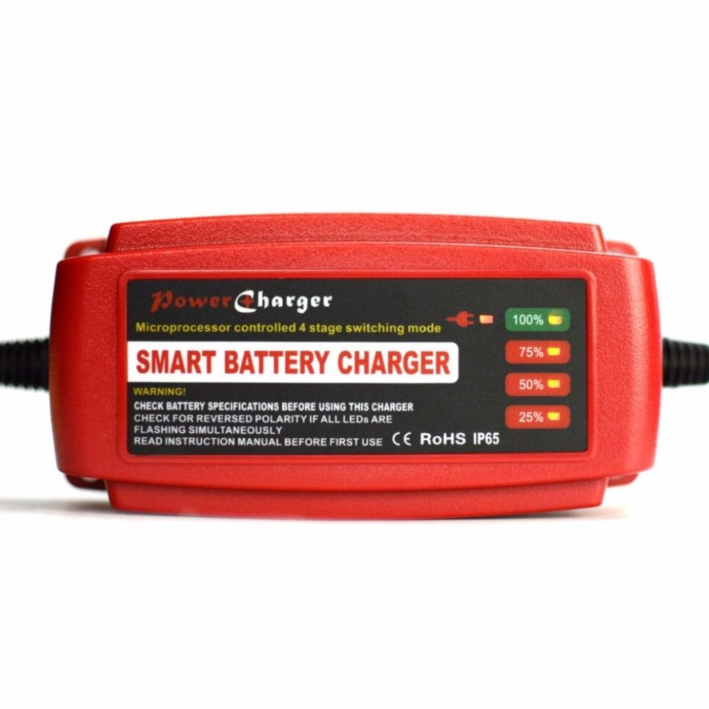 Waterproof 12V 5A Car Battery Charger Maintainer & Desulfator Smart Battery Charger for AGM GEL WET Batteries EU/AU/UK/US Plug