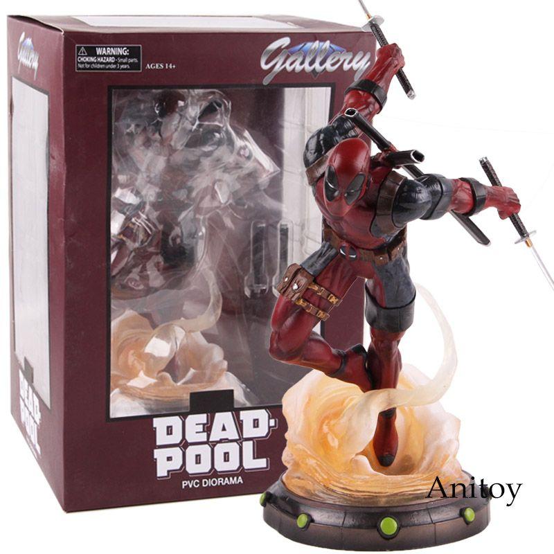 Marvel Legends Heißer Spielzeug Deadpool 2 Statue PVC Diorama Galerie Diamant Wählen Spielzeug Figure Sammeln Modell Spielzeug 24 cm
