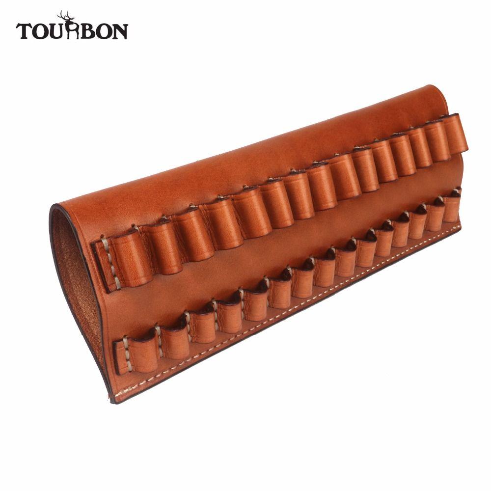 Tourbon Taktische Jagdgewehr Patronen Passen 30-06,270, 65*55 Echtes Leder Ammo Beutel Kugel Träger Gun Zubehör