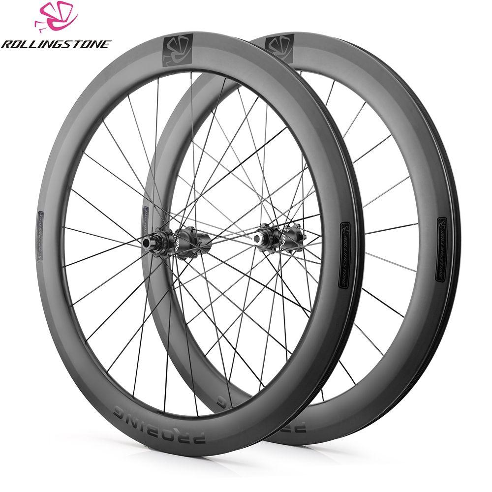Rolling Stone carbon-laufräder 700C drahtreifen cyclocross wheelset scheibenbremse aero-felge 58mm kies rennrad QR steckachse 12mm 15 MM