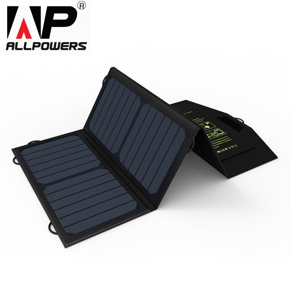 Original ALLPOWERS 5V 21W USB Monocrystalline Silicon Solar Panel Water Resistant Folding Charging Bag for Emergency Occasions