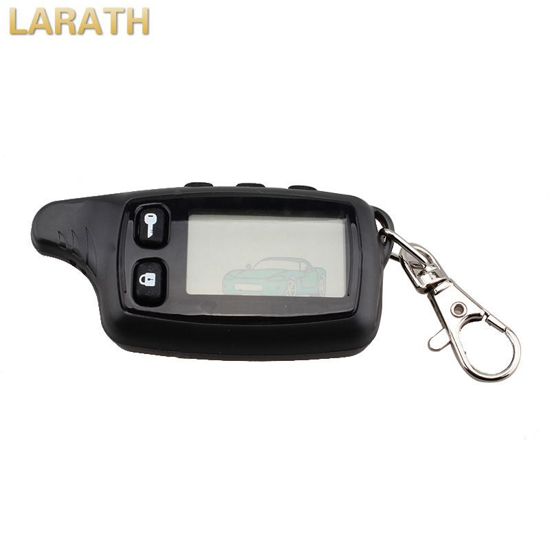 LARATH New Remote Controller Keychain Two-Way Car Alarm System LCD Fob For Russian Tomahawk TW9010 With Sticker