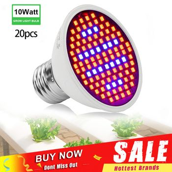20pcs/lot Wholesale 106 LEDs Grow Lights 10W E27 AC85-265V Full Spectrum Indoor Plant Lamp Hydroponics Growing Lamp